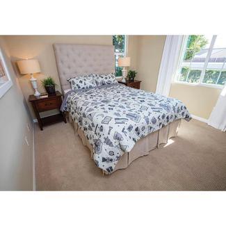gray camping comforter fullqueen reversible
