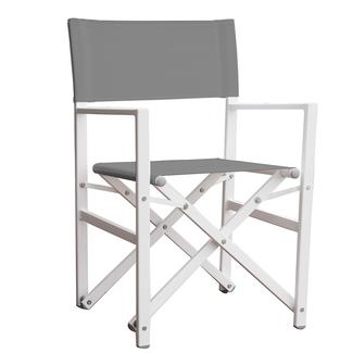 Studio Aluminum Folding Directoru0027s Chair, Gray