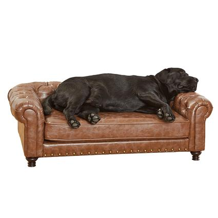 Wentworth Tufted Pet Sofa, Brown