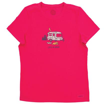 Life is Good Women's Camper Crusher Tee, Large