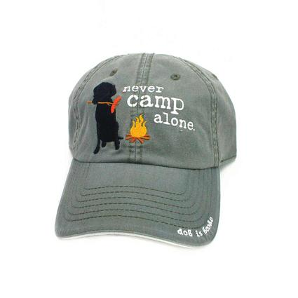 Dog is Good, Never Camp Alone Hat, L