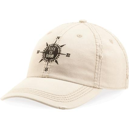 Life is Good Compass Sunwashed Chill Cap