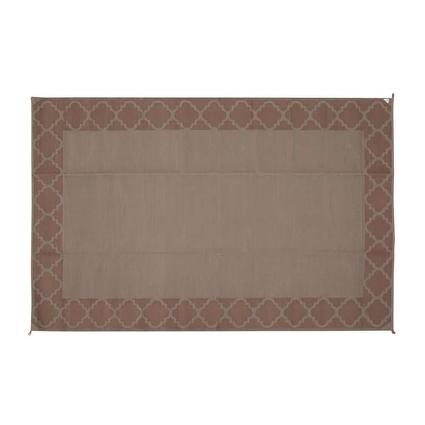 Reversible Patio Mat, 9 x 12, Dark Brown