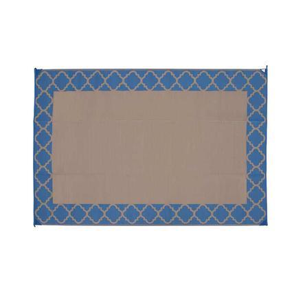Patio Mat, Polypropylene, Trellis Design, 9x12, Navy