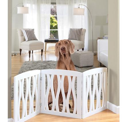 Cascading Wood 3-Section Pet Gate