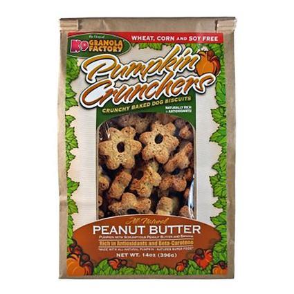 Pumpkin Cruncher Dog Treats, 14 oz. Bag, Peanut Butter Banana