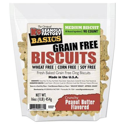 Grain Free Peanut Butter Dog Biscuits, 16 oz. Bag