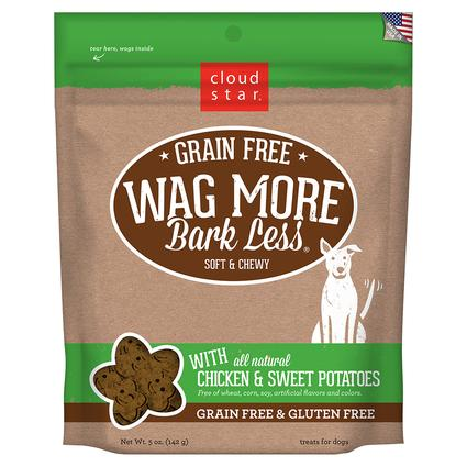 Wag More Soft Chewy Chicken Sweet Potato Treats, 5 oz.