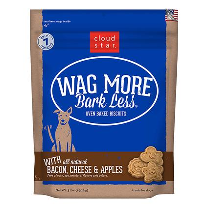 Wag More Oven Baked Bacon, Cheese Apple Biscuits, 3 lb. Bag