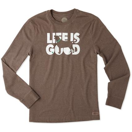 Life is Good Men's Long Sleeve Fetch Crusher Tee, Large