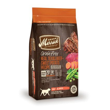 Merrick Grain Free Dog Food, Texas Beef, 12 lb. Bag