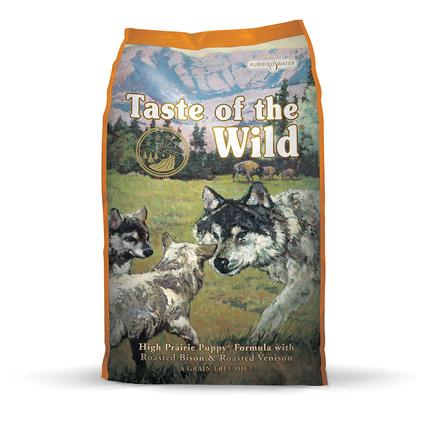 Taste of the Wild High Prairie Puppy Formula with Roasted Bison Roasted Venison, 5 lb. Bag