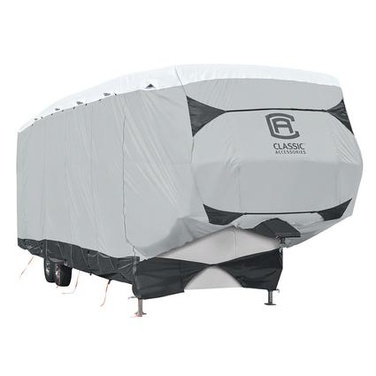Classic Accessories SkyShield Deluxe Tyvek 5th Wheel Trailer Cover, 41'-44'