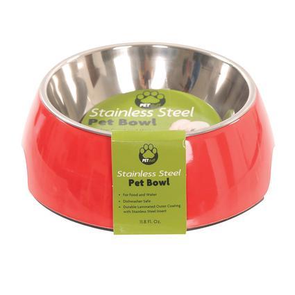 Large Pet Bowl, Red