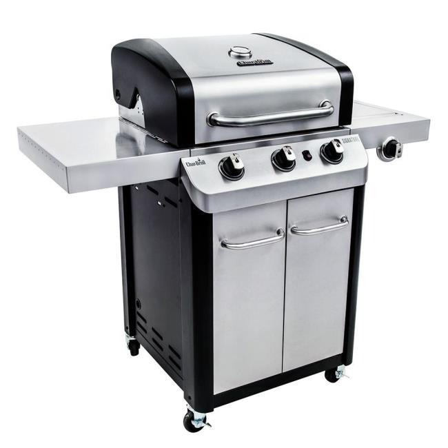 Luxury Char Broil 4 Burner Stainless Steel Gas Grill with Cabinet