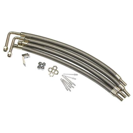 Dual Tire Inflators - Hub Mount Stainless Steel - 4 Hose Kit for 22