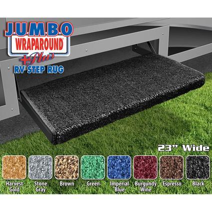 Jumbo Wraparound Plus RV Step Rug - Black