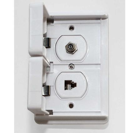Duplex TV/Telephone Exterior Connector Kit