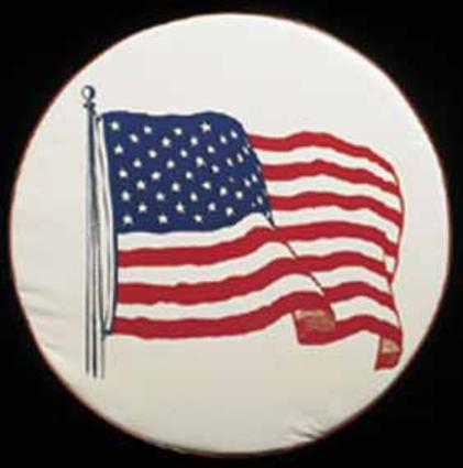 American Flag Spare Tire Cover (34