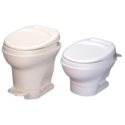 Aqua-Magic V Toilet High Profile Foot Flush - White