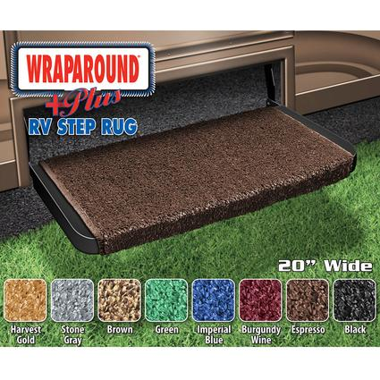 Wrap Around Plus RV Step Rug - Espresso, 20