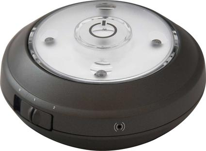 Wireless LED Puck Light with Auto On/Off Sensor, Single - Grey