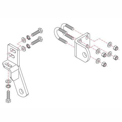 Roadmaster Reflex Steering Stabilizer Mounting Bracket, RBK24