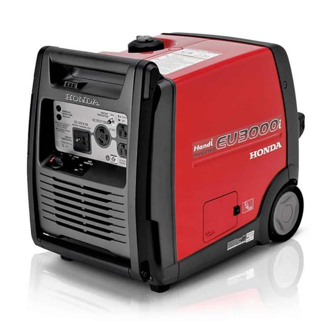 portable generators. Image Honda EU3000i Handi Portable Generator - CARB Compliant. To Enlarge The Image, Click . Generators B