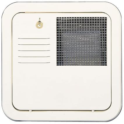 White Flush-Mount Radius Corner Access Door with Frame for 4 6 gallon models.
