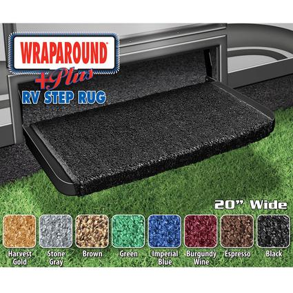 Wraparound Plus RV Step Rug - Black