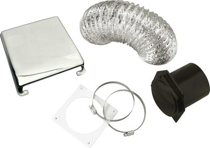 Splendide Dryer Vent Kit - Chrome Plated