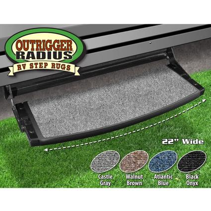 Outrigger Radius RV Step Rug - Castle Gray, 22