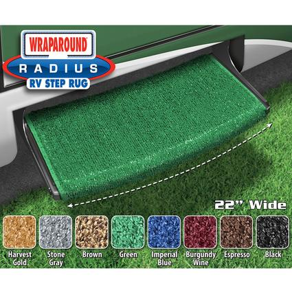 Wraparound Radius Step Rugs - Green