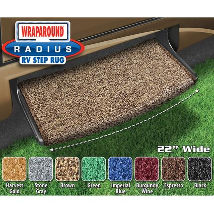 Wraparound Radius Step Rugs - Brown, 22