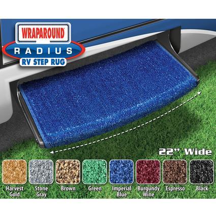 Wraparound Radius Step Rugs - Imperial Blue