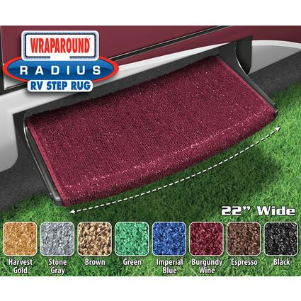 Wraparound Radius Step Rugs - Burgundy Wine