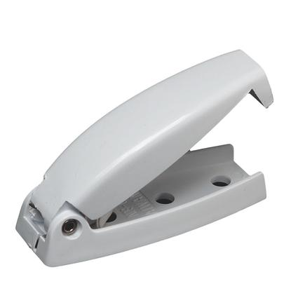 Rounded Baggage Door Catch - White