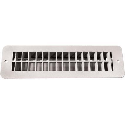 Floor Register with Damper - White