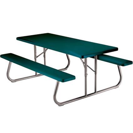 Folding Picnic Table – 6 foot, Hunter Green