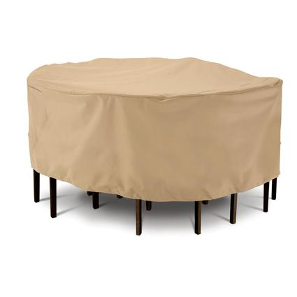 Terrazzo Collection Patio Furniture Covers-Large Round Table Chair Cover