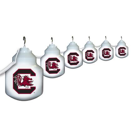 Collegiate Patio Globe Lights, 6 light sets- South Carolina