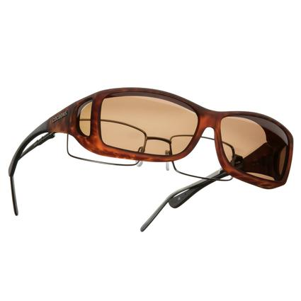 Cocoons OveRx Sunglasses - Wide Line Medium/Large, Tortoise Frame/Amber Lenses