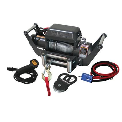 Champion 10,000 lb. Power Winch with Speed Mount Hitch Adapter