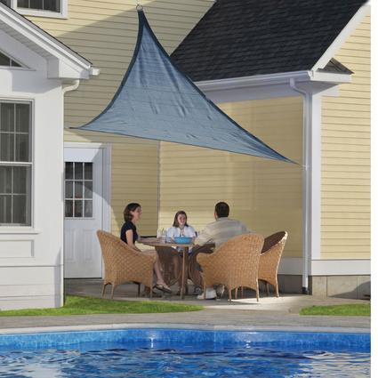 ShadeLogic Sun Shade Sail, Square- Sea 16' x 16'