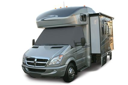 Overdrive RV Windshield Cover with Cutouts - Dodge Sprinter, Grey