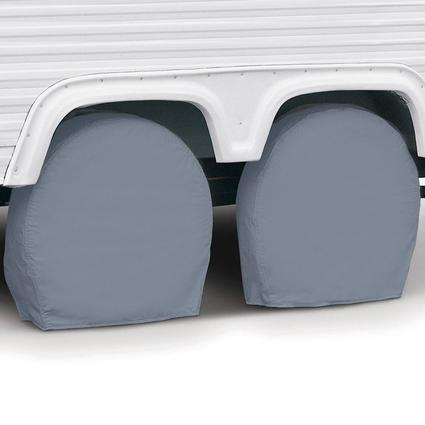 Overdrive RV Tire Covers, Pair - Tire diameter 26.75