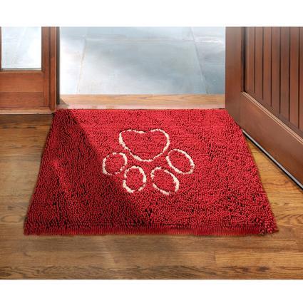 Dirty Dog Doormat- Maroon