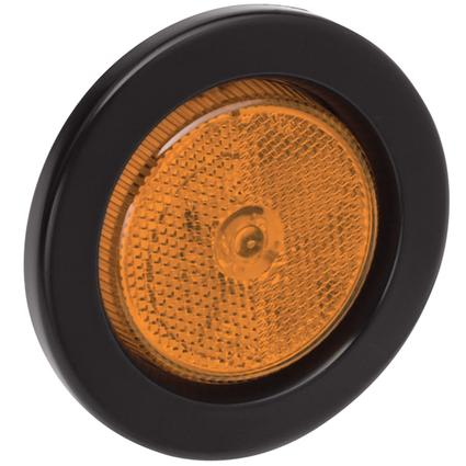 "Waterproof LED 2 1/2"" Round Clearance/Side Marker Lights #31 Series with Reflex Lens- Amber"