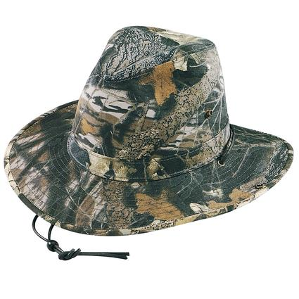 Camo Aussie Hat- Mossy Oak Camo, X Large
