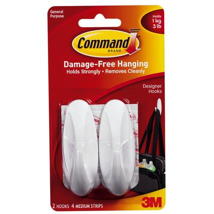 Command Designer Medium Hooks - 2 Pack